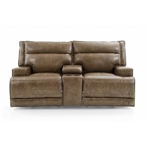 Futura Leather E1270 Power Reclining Love w/ Console