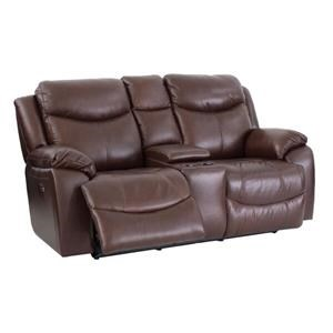 Futura Leather E1307 Power Reclining Love Seat
