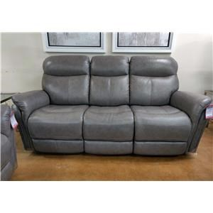 Leather Manual Reclining Sofa