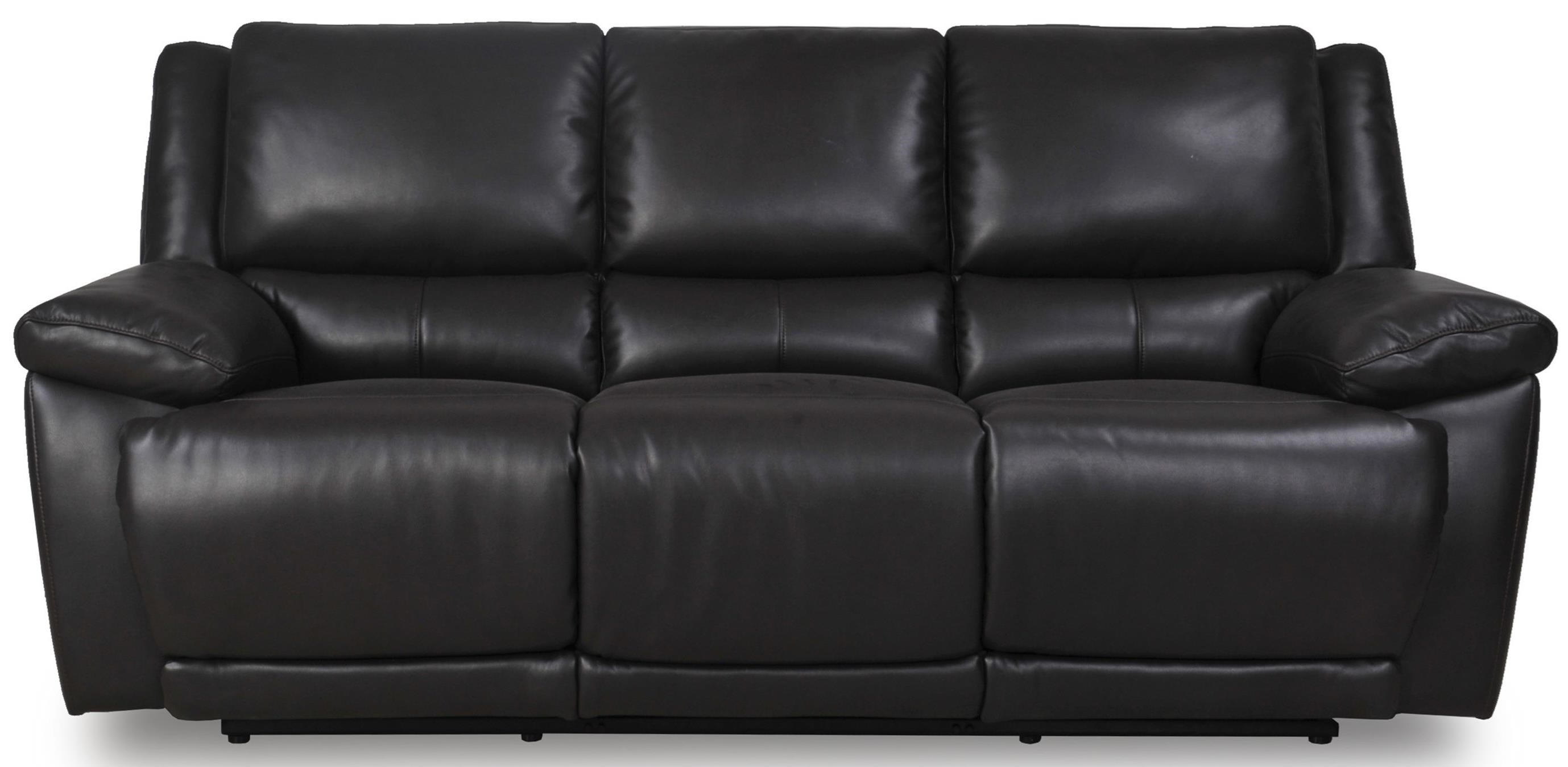 Futura Leather Curtis Power Reclining Sofa HomeWorld Furniture