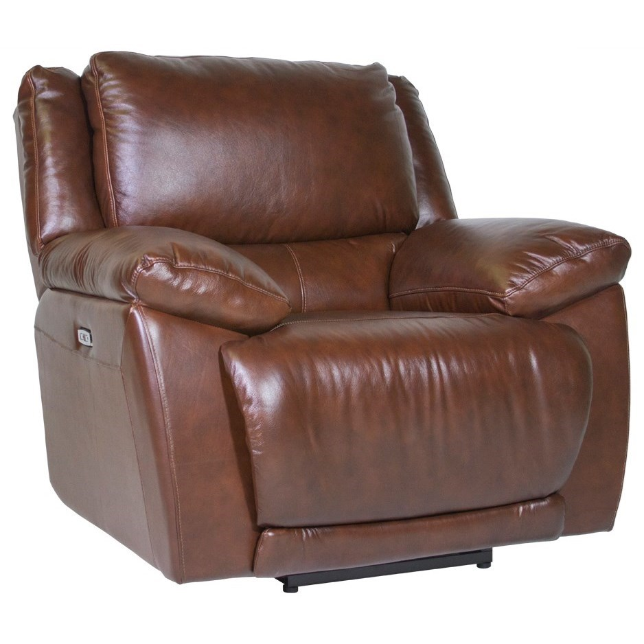 Futura Leather Curtis Power Recliner Homeworld Furniture