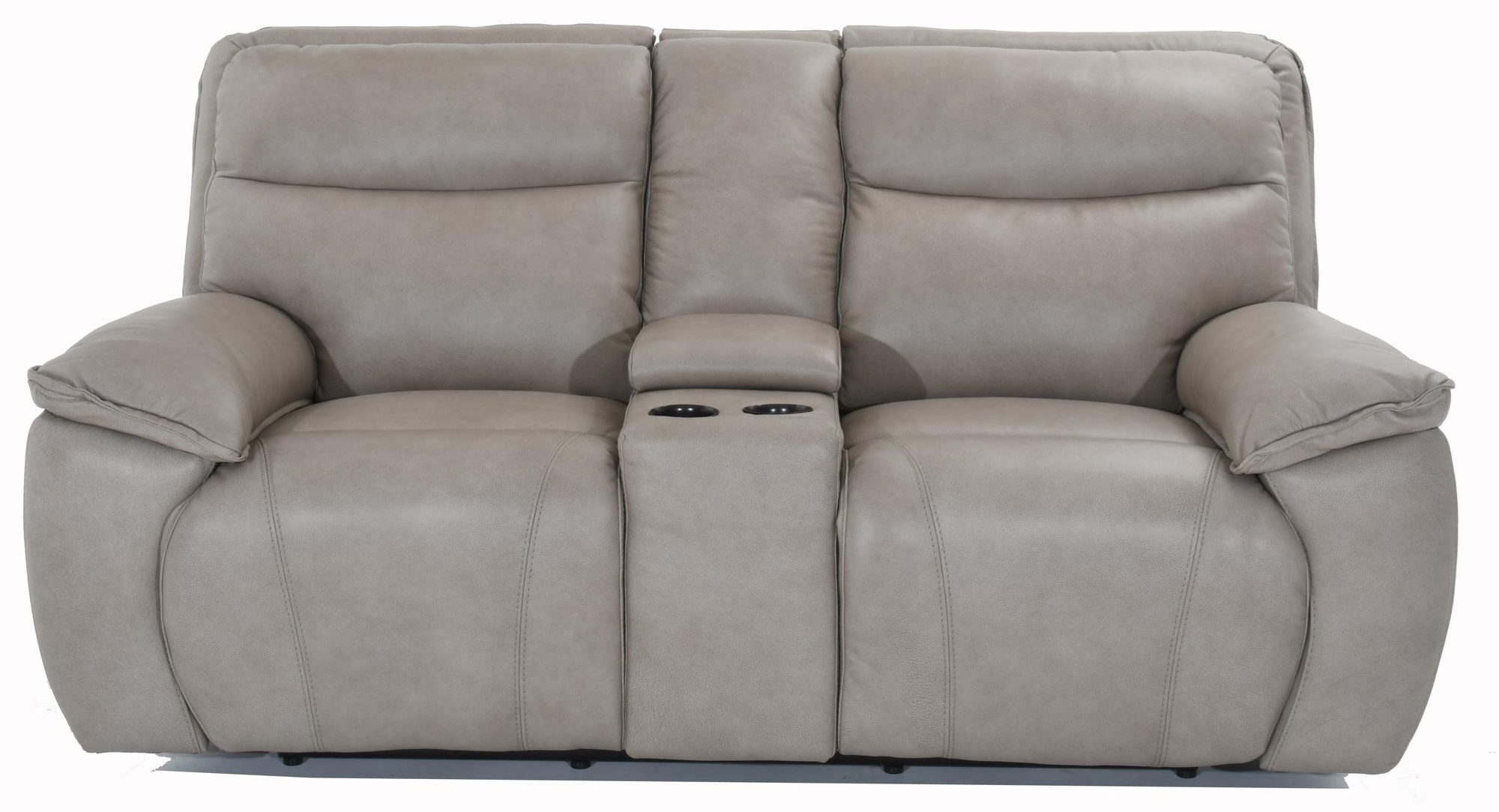 E1578 Console Power Reclining Sofa by Futura Leather at Baer's Furniture