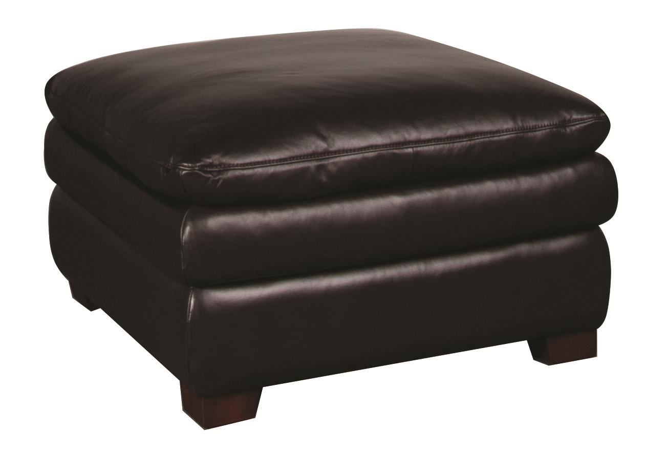 Morris Home Furnishings Edison Edison Leather Ottoman - Item Number: 128814642