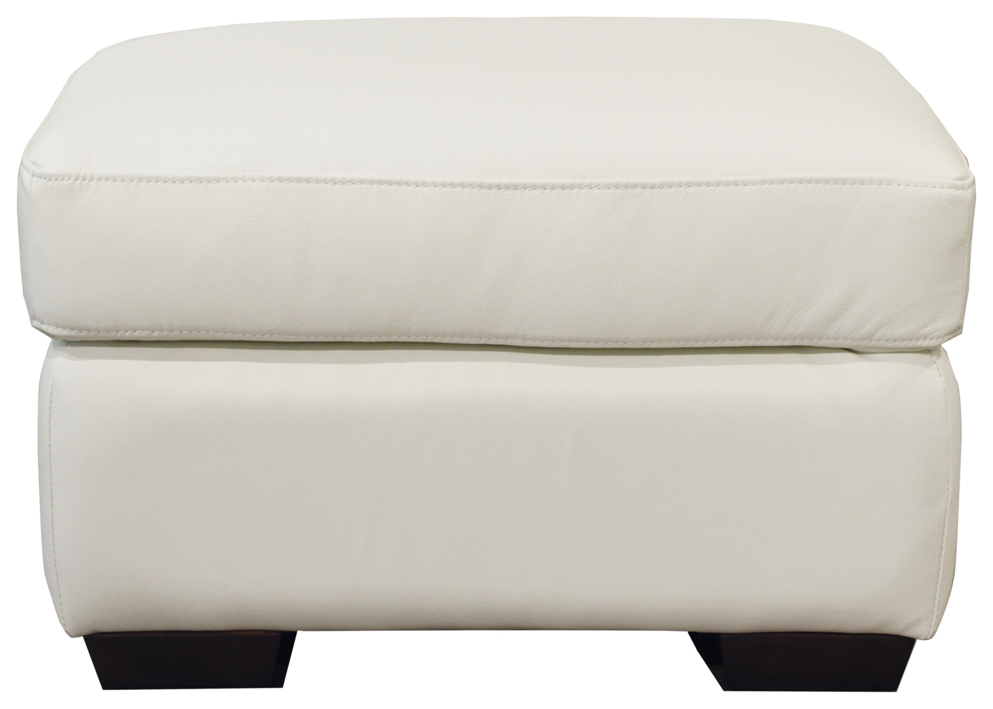 Ethan Ottoman by Futura Leather at HomeWorld Furniture