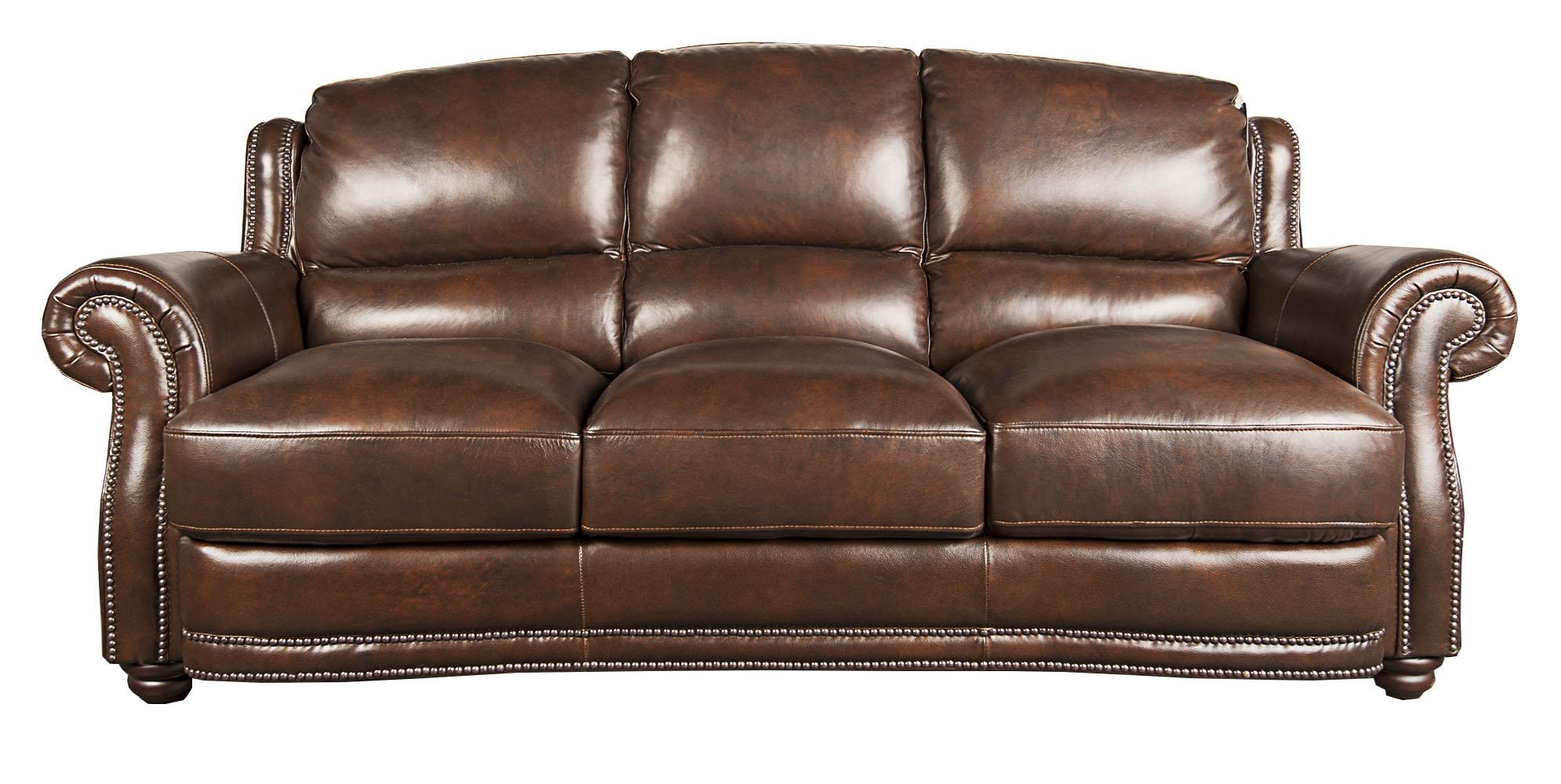 Morris Home Furnishings Harrison Harrison 100% Leather Sofa - Item Number: 103105276