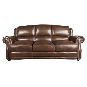 Morris Home Furnishings Harrison Harrison 100% Leather Sofa