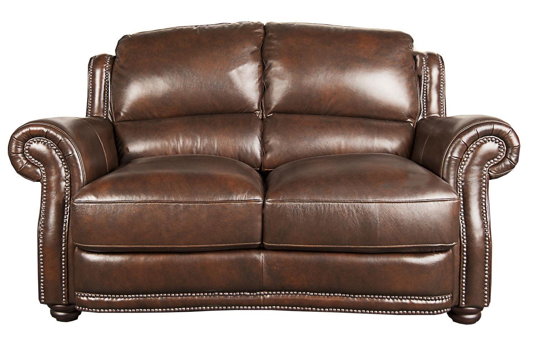 Morris Home Furnishings Harrison Harrison 100% Leather Loveseat - Item Number: 106189639
