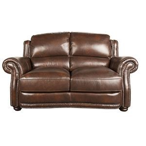 Morris Home Furnishings Harrison Harrison 100% Leather Loveseat