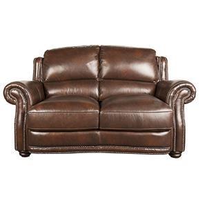 Morris Home Furnishings Harrison Harrison 100% Leather Loveseat