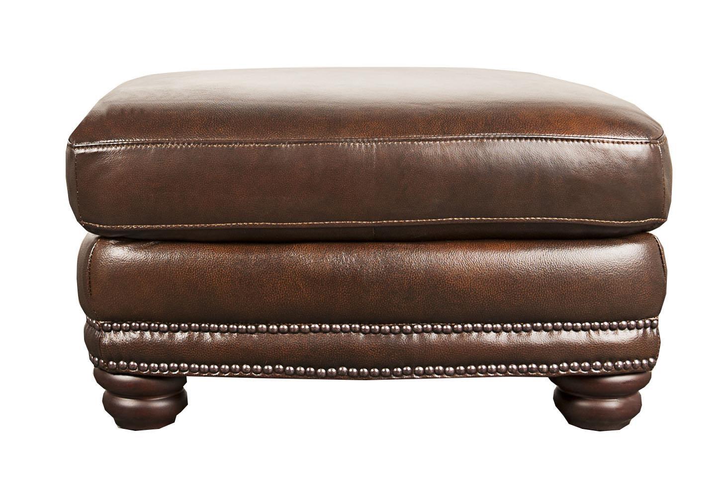 Morris Home Furnishings Harrison Harrison 100% Leather Ottoman - Item Number: 114187449