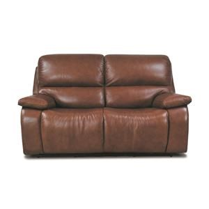 Huntley Leather Match Power Loveseat