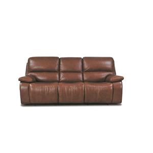 Huntley Leather Match Power Sofa