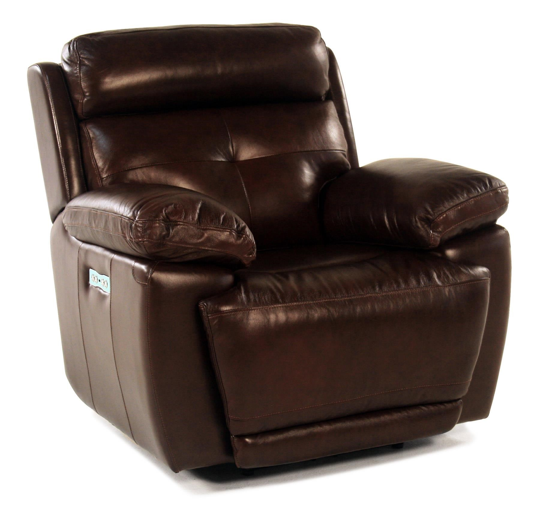 Loft Leather Jasper Power Leather Recliner - Item Number: E1268-319