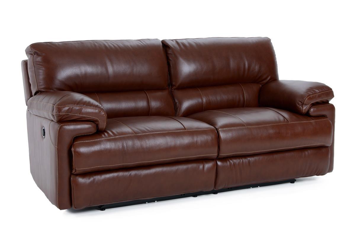 Futura Leather E687 Electric Motion Sofa - Item Number: E687-119 2557H COASTAL
