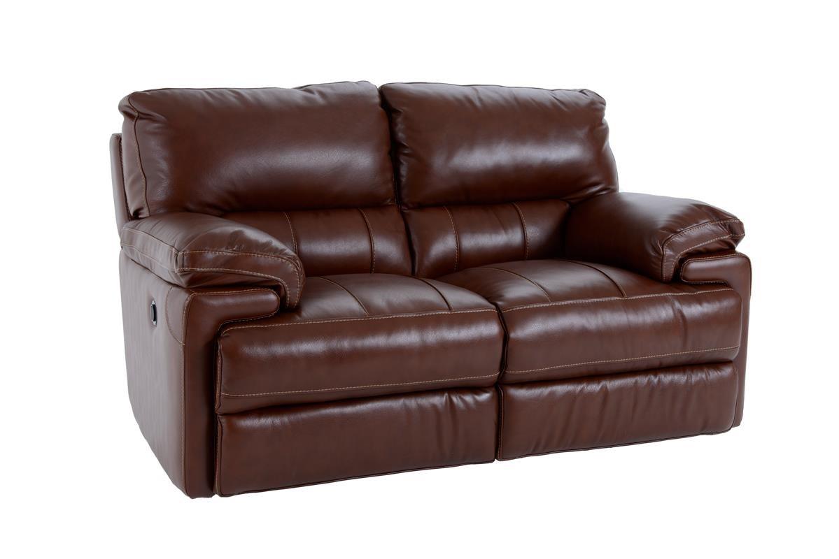 Futura Leather E687 Electric Motion Loveseat - Item Number: E687-120 2557H COASTAL