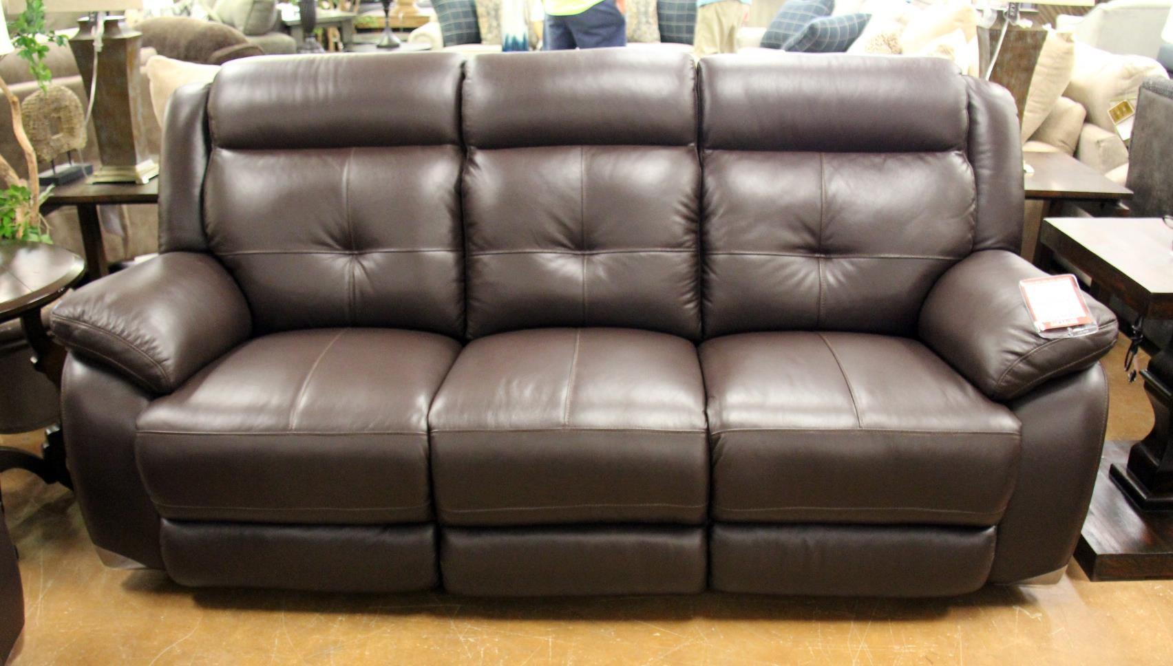 Omega Chocolate Leather Reclining Sofa
