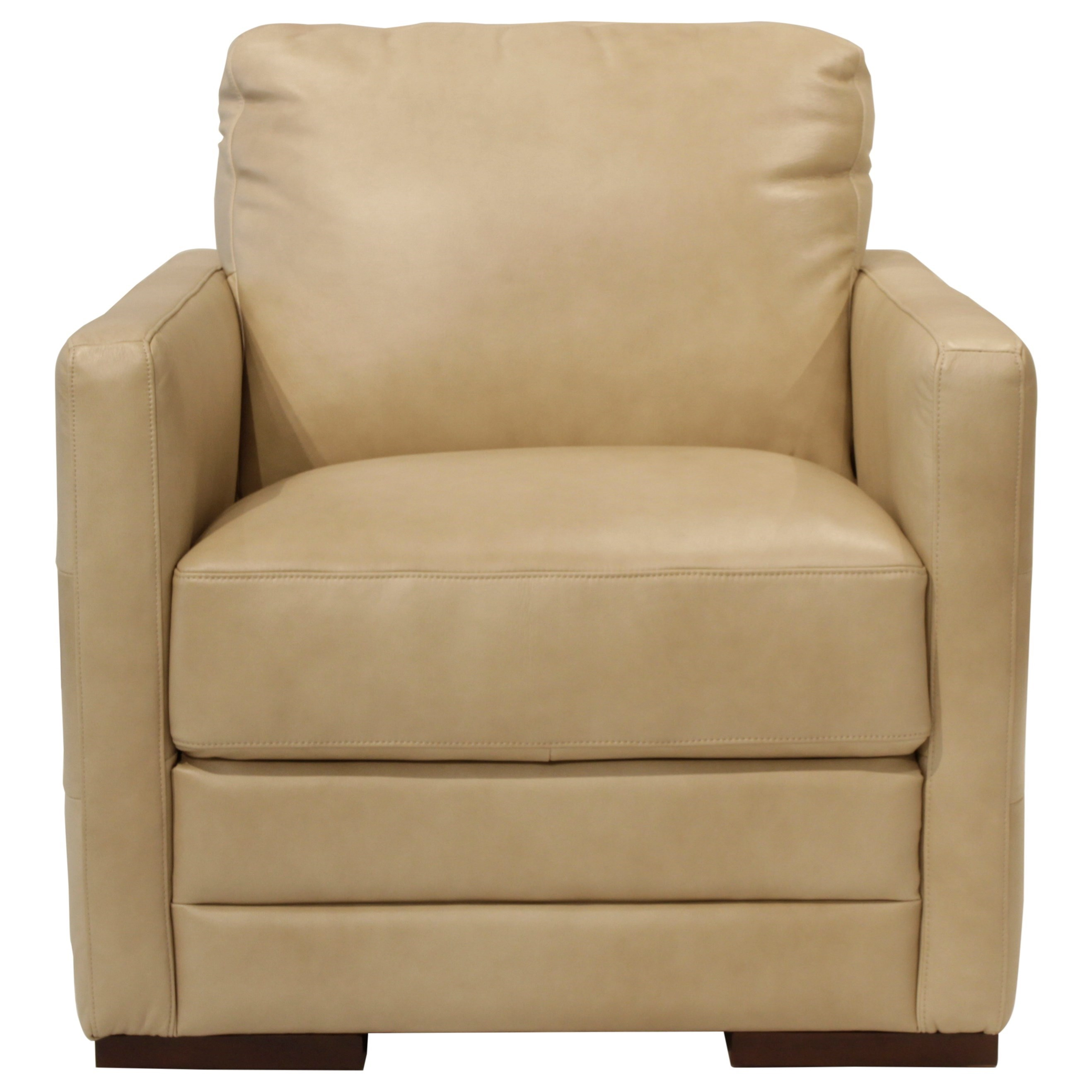 Futura Leather Monica Chair - Item Number: 10190-10-Pebble