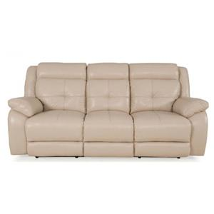 Futura Leather Pebble Power Reclining Sofa