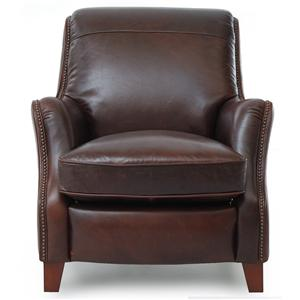 Rialto 1941 Rich Brown Leather Chair with Nailhead Trim by Futura Leather