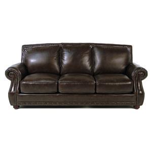 Loft Leather Vincenzo Roll Arm Leather Sofa