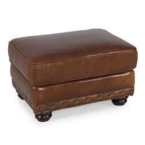 Swell Futura Leather Rialto Traditional Leather Ottoman With Nail Creativecarmelina Interior Chair Design Creativecarmelinacom