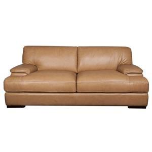 Morris Home Furnishings Titus Titus 100% Top Grain Leather Sofa
