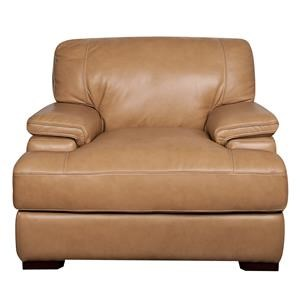 Morris Home Furnishings Titus Titus 100% Leather Chair