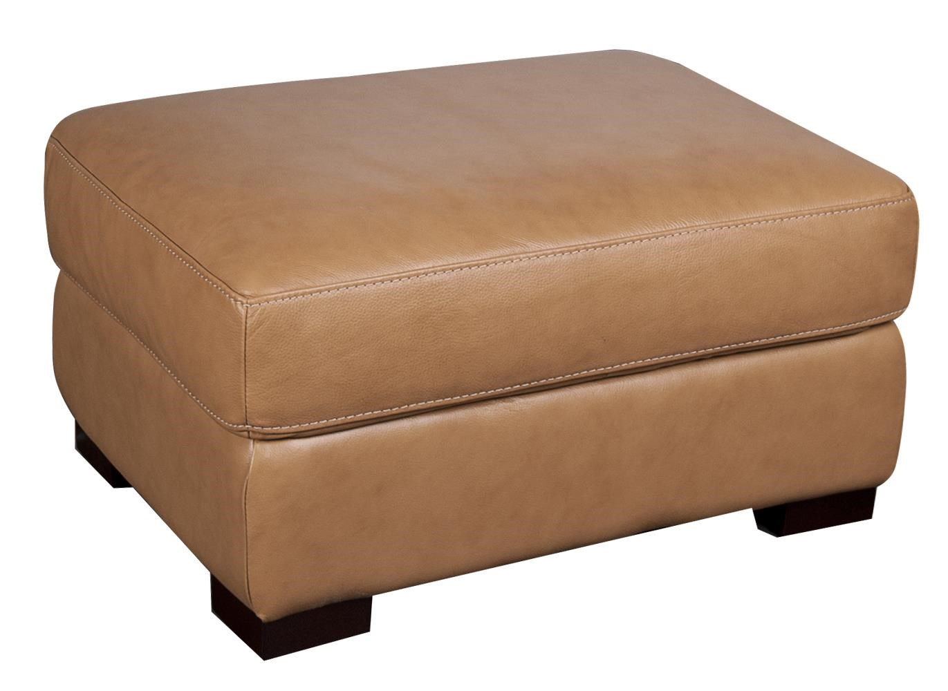 Morris Home Furnishings Titus Titus 100% Leather Ottoman - Item Number: 556660179