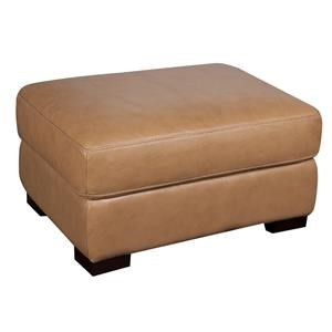 Morris Home Furnishings Titus Titus 100% Leather Ottoman