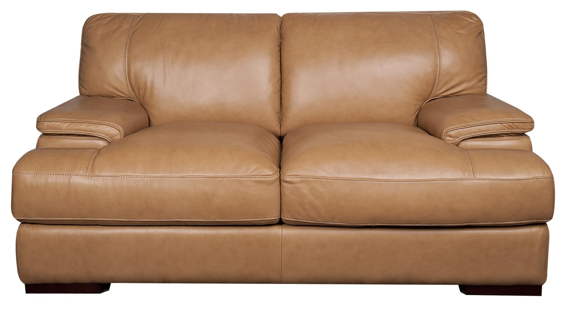 Morris Home Furnishings Titus Titus 100% Leather Loveseat - Item Number: 873473823