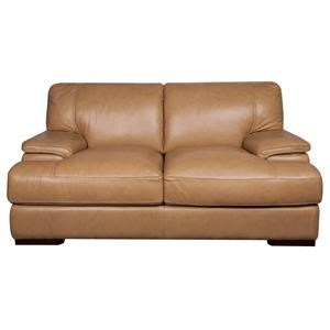 Morris Home Furnishings Titus Titus 100% Leather Loveseat