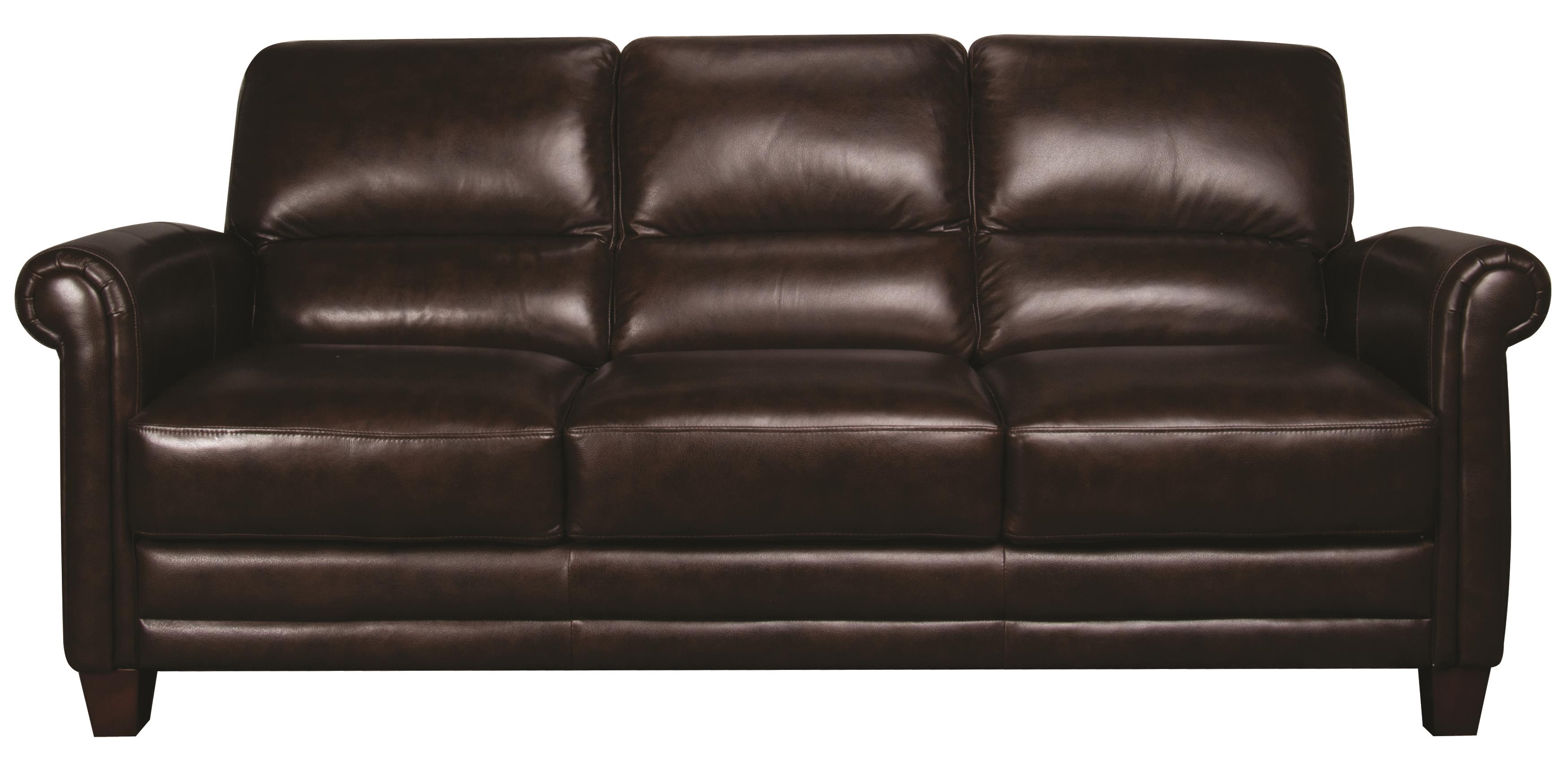 Morris Home Furnishings Victor Victor 100% Leather Sofa - Item Number: 103807080