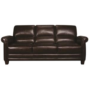 Morris Home Furnishings Victor Victor 100% Leather Sofa