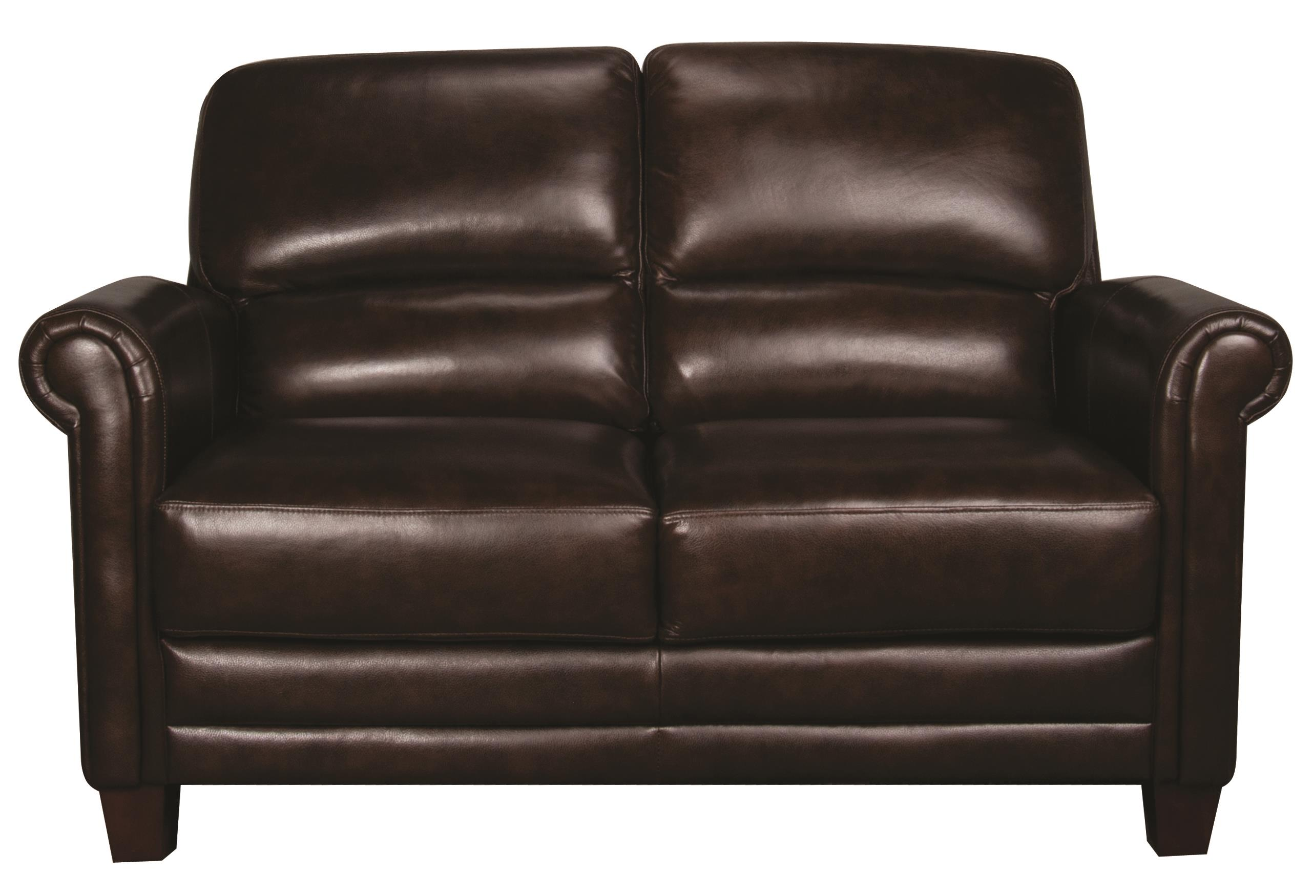 Morris Home Furnishings Victor Victor 100% Leather Loveseat - Item Number: 106807083