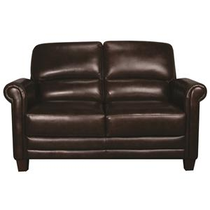 Morris Home Furnishings Victor Victor 100% Leather Loveseat