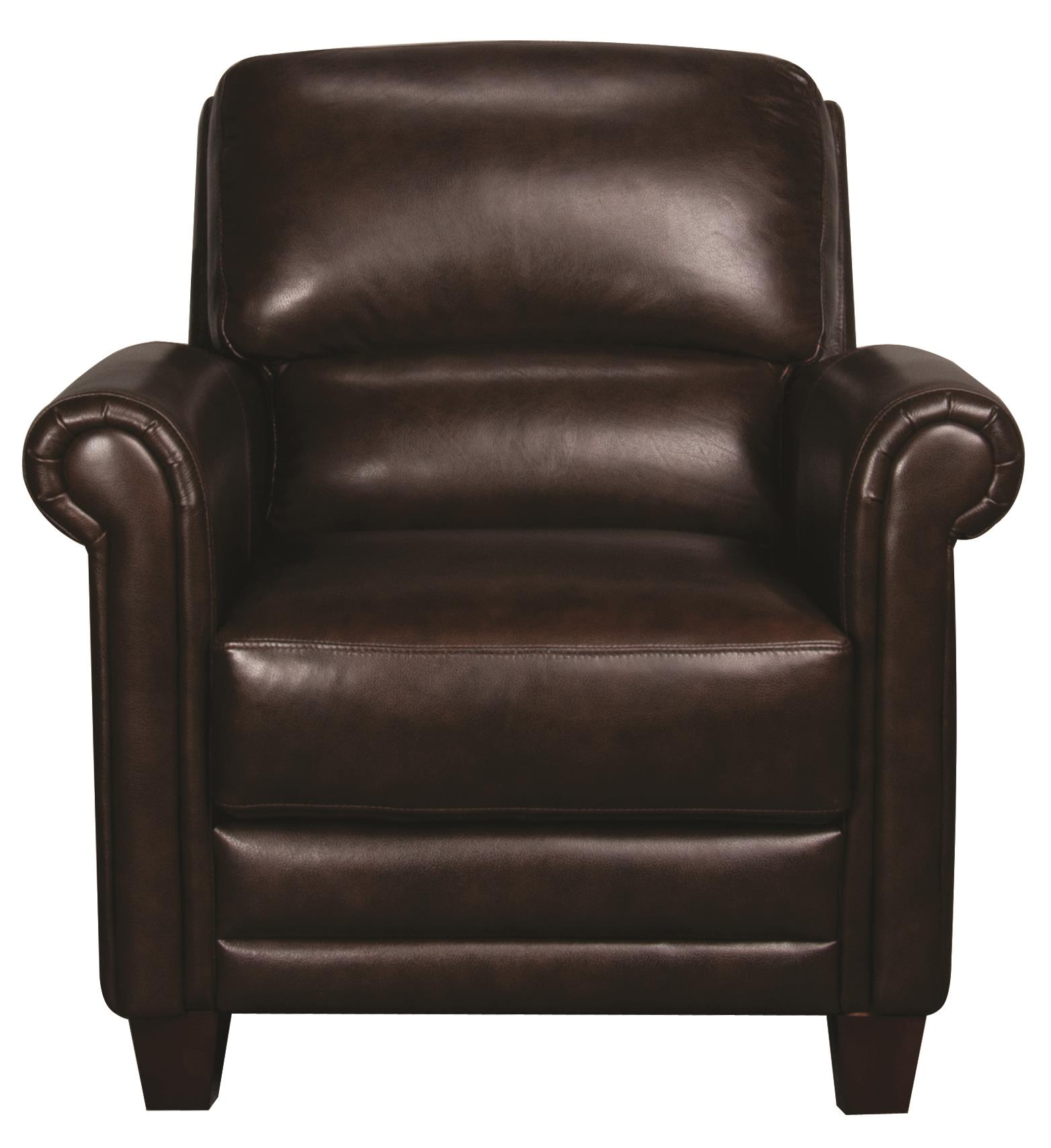 Morris Home Furnishings Victor Victor 100% Leather Chair - Item Number: 113807082
