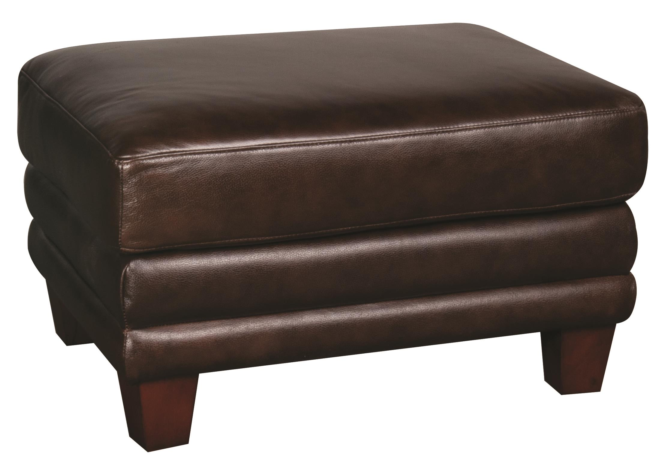 Morris Home Furnishings Victor Victor 100% Leather Ottoman - Item Number: 114807083