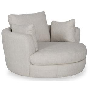 Futura Leather W465 Upholstered Snuggler Chair