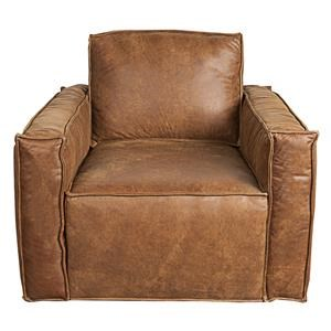 Morris Home Furnishings Wesley Wesley 100% Leather Glider