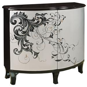 Gail's Accents Accent Chests Modern Graphics Half Round