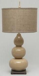 Natural Burlap Table Lamp