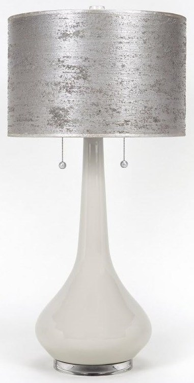 Handpainted Silver Leaf Lamp