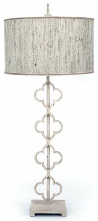 Beige Green Cast Iron Table Lamp
