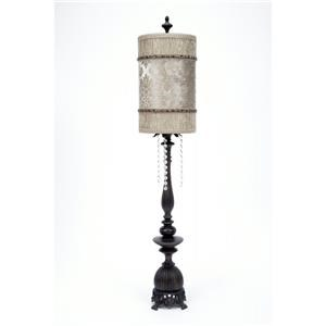 Velvet and Sequins Table Lamp