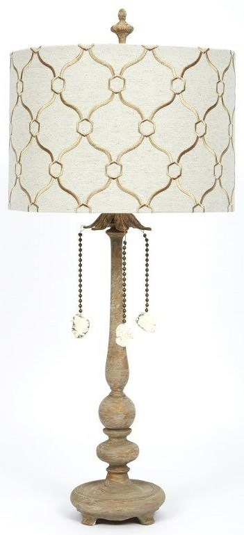 Aged Gold Taupe Finish Table Lamp