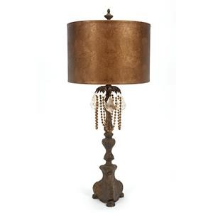 Metallic Leather Shade Table Lamp