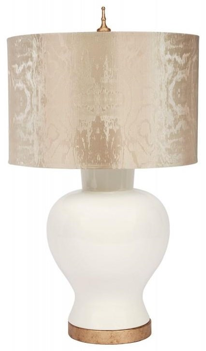 Eggshell and Gold Table Lamp