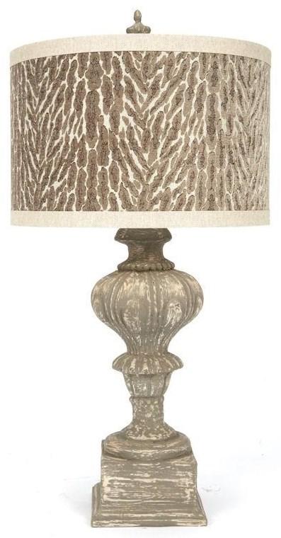 Taupe Beige Animal Print Lamp