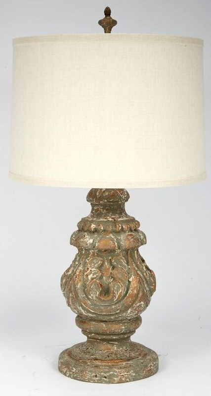 Aged Gold Smoked Truffle Table Lamp