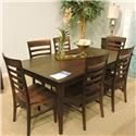 Greenbrier Clearance Brooklyn Dining Leg Table, Server and 6 Chai - Item Number: 819828572